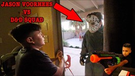 JASON FINDS DAMIAN and DEION - SCARY MOVIE - D and D SQUAD BATTLES