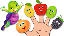 Colours and Fruits Finger Family Song V1