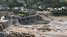 Floodwaters Rush Downhill As Flash Floods Hit Coverack
