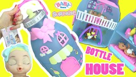 Baby Born Surprise Baby Bottle House Unboxing  Color Changing Exclusive Doll