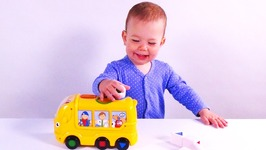 Baby Jessie Learning Shapes with Bus Toy - Learn Shapes for Kids - Children's Educational Toy