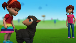 Elsa Gives Anna A Sharing Lesson-Baa Baa Black Sheep-Children's Popular Nursery Rhyme