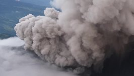 Drone Footage Captures Costa Rica's Turrialba Volcano Eruption