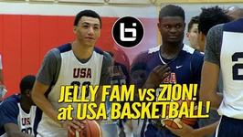 Zion Williamson Vs 'Jelly Fam' Jahvon Quinerly Usa Basketball Highlights