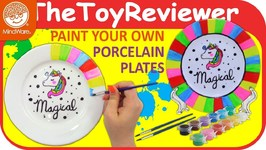 DIY Paint Your Own Porcelain Plates Kit MindWare How To Craft Unboxing Toy Review