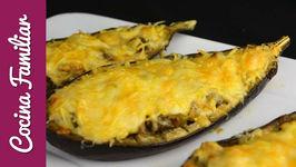 Berenjenas rellenas de atún y gratinadas con 4 quesos - Recetas caseras