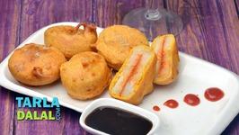 Garlicky Potato Sandwich Bhajiya-Recipe in Hindi