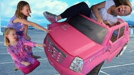 Addy and Maya Run from the Crazy Car Store
