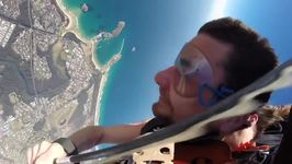 Man Skydives While Naked to Raise Awareness of Men's Body Image Issues