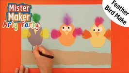 Feathery Bird Make - Arty Party - Mister Maker