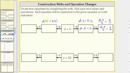 Create Equivalent Equations Using Construction Row (Two Step)