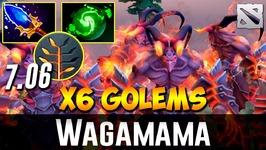 Wagamama Warlock 6 GOLEMS Dota 2