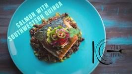 Salmon With Southwestern Quinoa