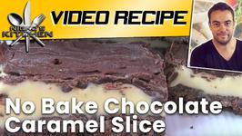 No Bake Chocolate Caramel Slice