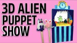 3D Alien Puppet Show Craft Kit - Mister Maker