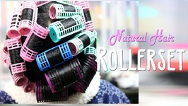 My Natural Hair - Roller Set - Trying Something New