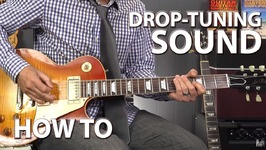 How To Get Drop Tuning Sound While In Standard Tuning