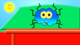Incy Wincy Spider - Nursery Rhyme - Blue Spider