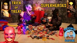 TRICK or TREAT with SUPERHEROES  HAUNTED HOUSE  DEION'S PLAYTIME