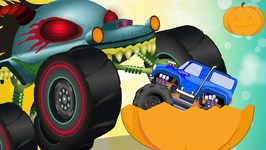 Haunted House Monster Truck Cartoons - The Gift - Kids Channel Cartoon Videos