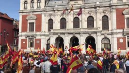 Supporters of Spanish Unity Rally in Valladolid on Eve of Catalan Vote