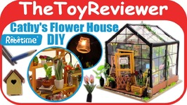 DIY Dollhouse Miniature Robotime Cathys Flower House Greenhouse Unboxing Toy Review