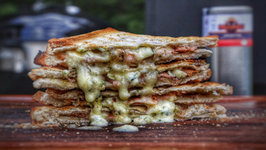 Salmon Grilled Cheese Sandwich From My Schickling Grill