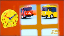 Clock School Crash - 1 - Tell The Time With Tayo Bus And Lightning McQueen