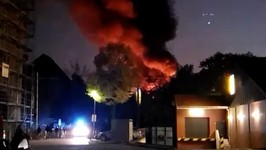 Smoke Pours Out Into Sky After Lichtenberg Explosion