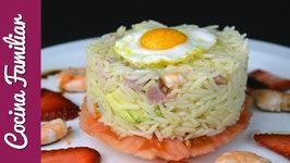 Como hacer ensalada de arroz con mariscos paso a paso