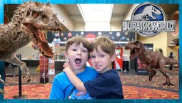 Dinosaur Escape Plan! Giant Life Size Dinosaurs & Secret Life of Pets 2 - Chase and Cole Adventures
