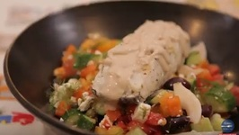 Mediterranean Sea Bass With Greek Salad