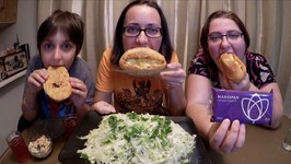 Meatballs Subs, Cabbage Salad And Marzipan/Gay Family Mukbang -Eating Show
