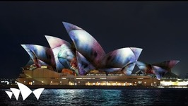 Sydney Opera House Forms Backdrop for Vivid Festival Light Show