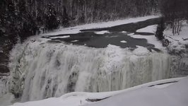 New York's Letchworth Park Waterfalls Freeze Over in Bitter Cold