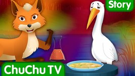 Fox and Crane Beat The Treat - Bedtime Stories for Kids in English- ChuChu TV Storytime for Children