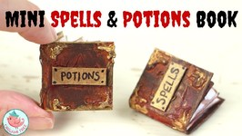 Halloween Crafts - How to Make a Recycled Miniature Book - Mini Witchcraft Spells & Potions Book