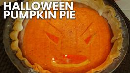 Halloween Pumpkin Pie - Leftover Pumpkin