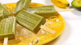 Avocado Green Tea Popsicle