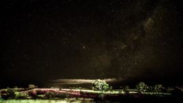 Clouds Pass Under Swirling Galaxy in Gorgeous Pilbara Timelapse