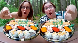 Beautiful Sushi Tray /Gay Family Mukbang - Eating Show