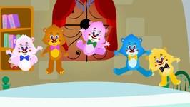 Five Little Teddy Bears - Kindergarten Nursery Rhymes For Children - Kids Tv Cartoons