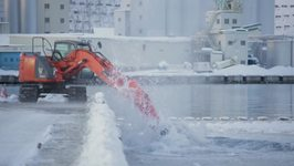 Workers in Japan Show Innovative Way of Clearing Snow