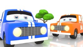 Learning Colors For Kids With Sports Car - Street Vehicles - 3D Car For Kids