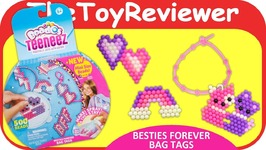 Beados Teeneez Besties Forever Bag Tags Theme Pack Aquabeads Unboxing Toy Review