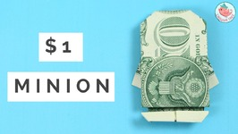 How to Fold Money Origami Minion! Origami Instructions for Folding Dollar Bills
