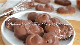 Palmeritas De Hojaldre Con Chocolate  Palmeritas De Chocolate  Palmeritas De Hojaldre Chefdemicasa