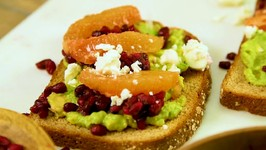 Avocado Toast With Ruby Red Grapefruit And Pomegranate