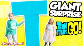 Giant Surprise Teen Titans Go T-Tower Surprise With Transforming Robin Starfire Teen Titans Go Toys