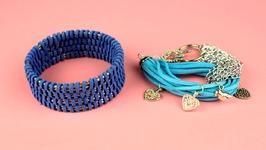 DIY Suede Leather Cord Bracelet Ideas
